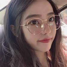pearl glasses frame women korean style fashion vintage myopia ultra light eyeglasses fixing device round