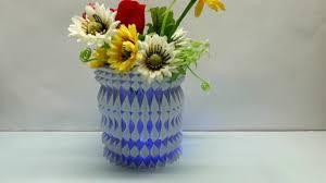 Paper Flower Base Paper Flower Vase Origami 3d Gifts