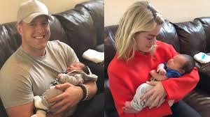 Justin james watt (born march 22, 1989) is an american football defensive end who is a free agent. Jj Watt Girlfriend Kealia Ohai Visit His New Baby Nephew In Adorable Pics Khou Com