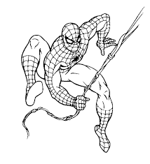 Small Picture Spiderman coloring pages hanging from web ColoringStar