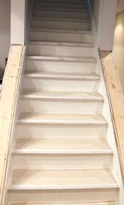 Best Paint For Stairs My Enroute Life Ugly Basement Stairs Update With Beadboard And
