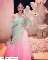 Designer Dresses In Ludhiana Off Shoulder Lehenga Gown Repost Charusemwal Get_repost