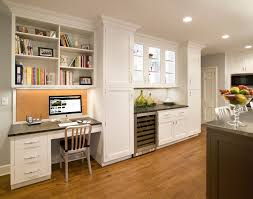 scarsdale ny kitchen example of a classic kitchen design in new york with shaker cabinets and alluring tech office design