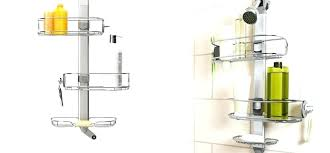 shower pole caddy pole cads brilliant shower cads stainless tension pole with regard to stainless steel