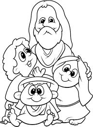 Small Picture coloring pages of jesus and children