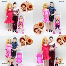 Bộ đồ chơi búp bê Barbie mang thai 6 món giáo dục gia đình cho trẻ