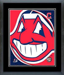cleveland indians team logo framed with double black matting ready to hang awesome beautiful on cleveland sports teams wall art with 48 best cleveland indians images on pinterest cleveland rocks