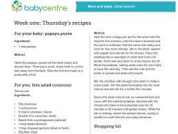 Mum And Baby Recipes Week One Babycentre Uk