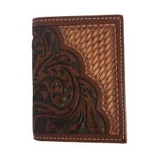 ranger belt company brand leather trifold basket fl pattern wallet c1308t tactical intent