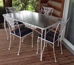 garden furniture wrought iron. Salterini Mid Century Modern Wrought Iron Patio Table \u0026 4 Chairs Garden Furniture