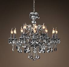 living room 19th c rococo iron crystal chandelier large smoke not normally a with regard to