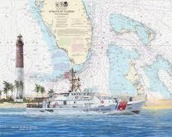 Coast Guard Chart Art Uscg Cutters Boats Chart Art Prints