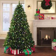 Artificial Christmas Tree With C9 Lights 4 Foot Pre Lit Led Christmas Trees Premium Douglas Fir Spruce Hybrid