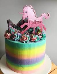 Unicorn Customised Happy Birthday Cake Topper With Name Etsy
