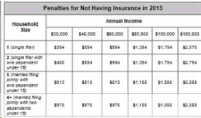 Income Tax Penalty Chart Mandate Penalty Tax Calculation Fine Idividual Health Care