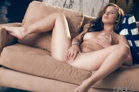 Solo girl Jillian Janson sporting erect nipples while masturbating.
