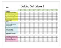 Printable Self Esteem Tracker I Therapy Worksheets Self