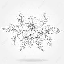 フリーハンド自由奔放に生きるタトゥー流行に敏感な三角形フレームのブラックワーク花ベクトル
