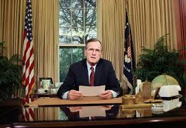 bush oval office. FILE - President Bush Addresses The Nation On Television From Oval Office In Washington