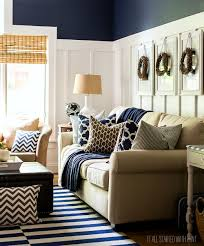 Navy Blue Living Room Chair Fall Decor In Navy And Blue