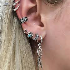 Dream Catcher Helix Earring Online Shop Starbeauty 100pcslot Dream Catcher Moon Sun Crystal 31