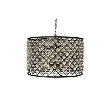cassiel oil rubbed bronze drum crystal chandelier ping great deals on chandeliers pendants