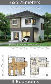 25m Design Small House Plan 6x6 25m With 3 Bedrooms House Design
