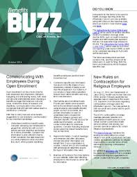 Employee Newsletter Benefits Buzz A Monthly Employee Benefits Newsletter From Cibc Of
