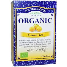Отзывы St. Dalfour, <b>Organic</b>, <b>лимонный чай</b>, <b>25</b> конвертиков, 1,75 ...