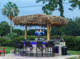 my wife and i enjoy watching tv from the pool from our new tahiti paradise grills was a pleasure to work with and has such great outdoor kitchens