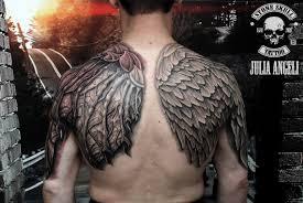 тату крылья ангел и демон