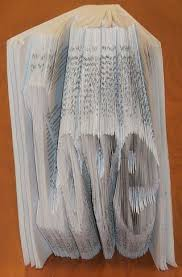book art how to fold a book into a word