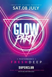 Party Template Glow Party Flyer Template For Photoshop Creativeflyers