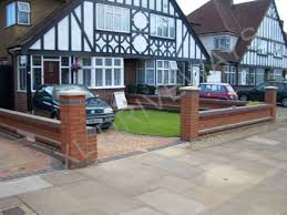 Small Picture Chic Front Garden Brick Wall Designs Front Garden Brick Wall