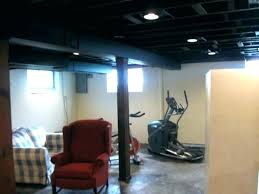 Black Ceiling Paint Image Of Painting Basement Ceiling Black Flat