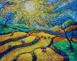 paul hilario painting toil today dream tonight diptych painting number 1 after van gogh by