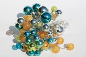 Glass Balls For Decoration lot of vintage Christmas decorations mercury glass balls beaded 74