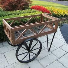 oakland living cedar wheelbarrow planter