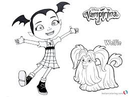 From transylvania to pennsylvania, this adorable little vampire is trying to do things the human way. Vampirina Coloring Pages Vampirina And Wolfie Free Printable Cartoon Coloring Pages Halloween Coloring Pages Coloring Pages