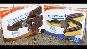 Entenmanns Minis Cakes Crème Filled Fudge And Fudge Iced Golden
