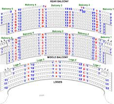 Ohio Theatre Seating Chart View Venue Seating Akron Civic Theatre