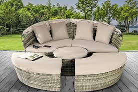 rattan daybed lounger garden