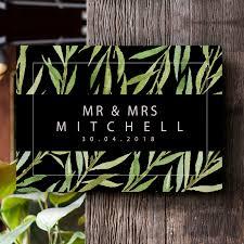 mr mrs door sign