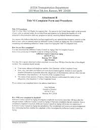 Title Vi Complaint Form & Procedures : Jccoa Anna Mae Reedy Senior ...