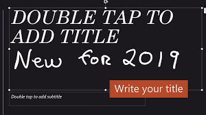 Title Your Slides With A Pen