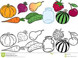 Small Picture Coloring With Vegetables And Fruits Stock Photography Image