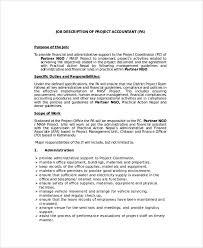 Sample Accountant Job Description 8 Examples In Pdf Word