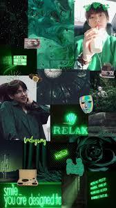Taehyung green wallpaper