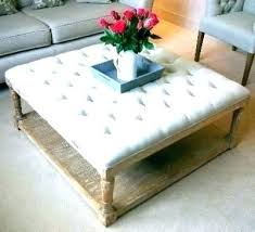 cushioned coffee table. Cushioned Ottoman Coffee Table Upholstered Fabric Square L