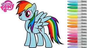 My Little Pony Coloring Book Rainbow Dash MLP Colouring Pages ...